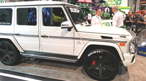 No modifications were needed to add the size 285/40R24 DX10 to the 2018 Mercedes G63.