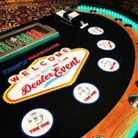 The Tire's Warehouse 2017 Tire One Dealer Event featured custom blackjack tables.