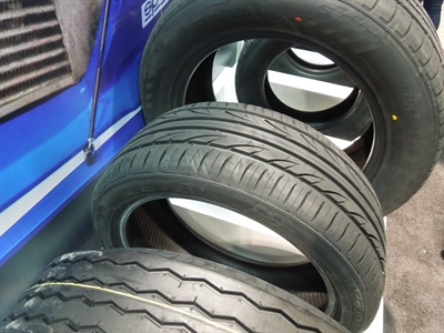 The Meglio UHP tire features four wide, straight grooves designed to provide efficient drainage in wet conditions for vehicle stability.