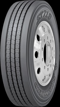 The new ST719 was engineered using Sumitomo's S-Tech Design elements. The result is more miles per 32nd-inch and an extra-wide tread face for increased vehicle stability.