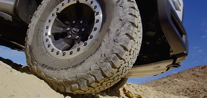 The tire maker participated as a technical partner in the official launch of the 2017 Ford F-150 Raptor in Borrego Springs, Calif.