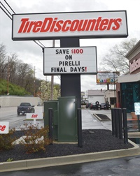 There are two sides to every Tire Discounters Inc. sign.