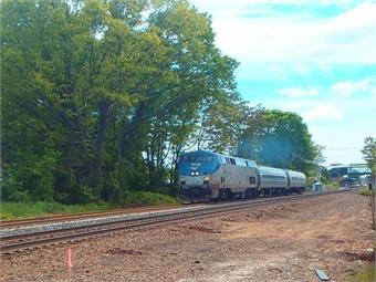 Train testing on new Track #2 in Wallingford (June 2017) Photo: CTDOT