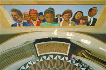 Union Station, City of Dreams/River of History, Richard Wyatt in collaboration with May Sun, Artists. Courtesy of Metro (Los Angeles County Metropolitan Transportation Authority).