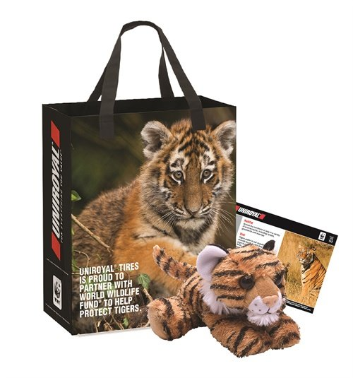 """Consumers will receive """"Save the Tiger"""" kits when they buy Uniroyal tires in October."""