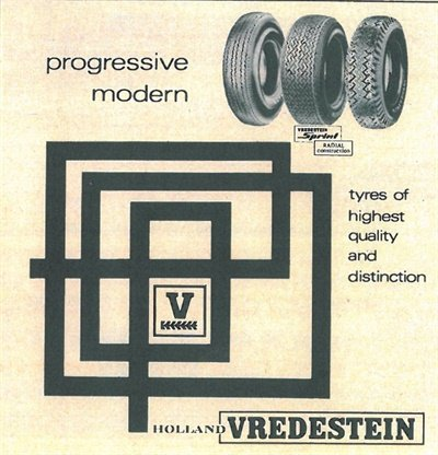 This Vredestein ad appeared in MTD in 1969.