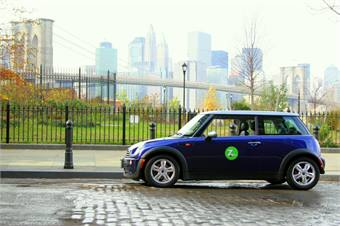 MINI in Manhattan courtesy Zipcar.