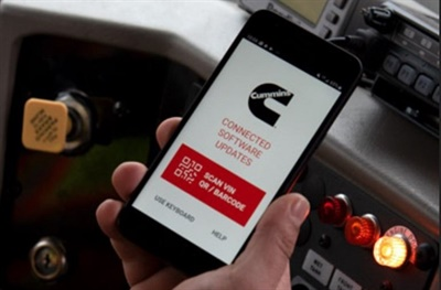 Zonar OTAir is a mobile app designed to offer over-the-air programming for enhanced Cummins engine performance and uptime. Photo courtesy Zonar