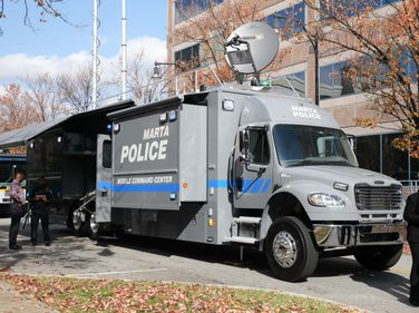 The mobile command center has a 24-hour generator and a 40-foot mast. Photo: MARTA