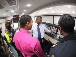 The vehicle features MARTA CCTV and voice-over internet protocal. Photo: MARTA