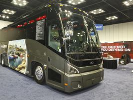 MCI featured its J3500 motorcoach.