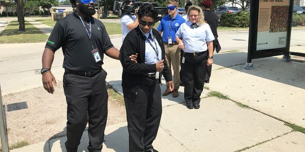 A portion of Milwaukee County Transit System's ADA Sensitivity Training includes a sight-guided...
