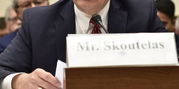 Skoutelas testifying before Congress on the oversight of positive train control implementation...