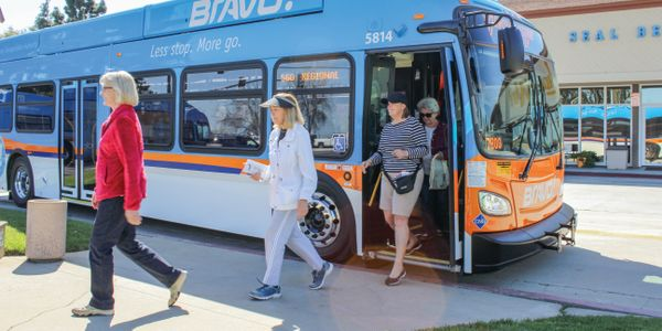 Bravo! Route 560, which runs along an 18-mile corridor, features five newly purchased CNG buses...