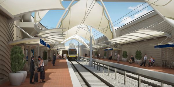 DART airport station set to open 4 months early