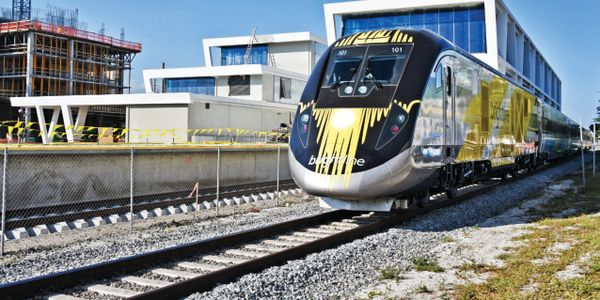 Brightline trains, manufactured by Siemens, feature level boarding and utilize automated...