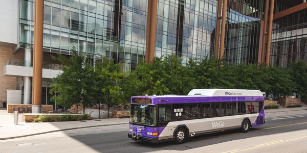 Nashville's new Gillig hybrid buses featuring the new branding, include Wi-Fi and USB plug-in...