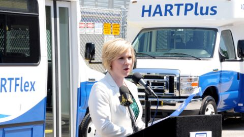 Discussing her accomplishments, Eagan says she is most proud of HART's improved ridership, which...