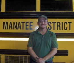 Manatee County Schools Vehicle Maintenance Manager Brian Keisacker came up with the idea for a Stuff the Bus event to be held at local supermarkets.