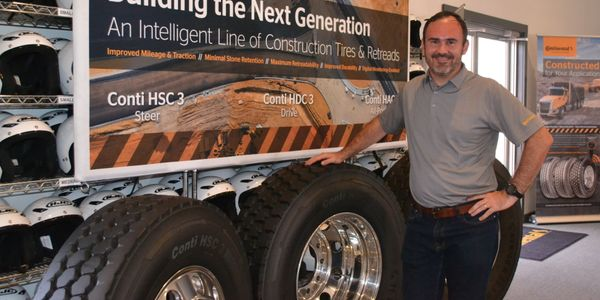 Marco Rabe says sensors embedded in the company's newest generation of construction tires for...