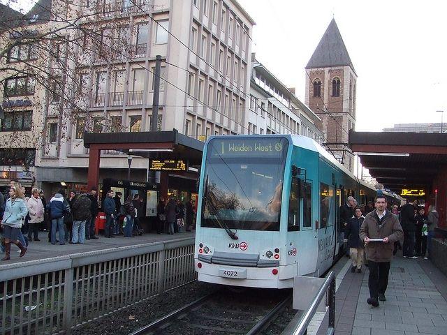 Modern streetcar in Cologne, Germany - shankar s. - 2007 - Flickr