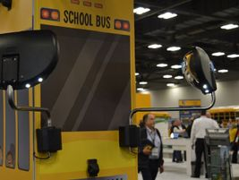 Rosco Vision Systems featured its Eye-Max LED, an integrated front crossview mirror withdriver...