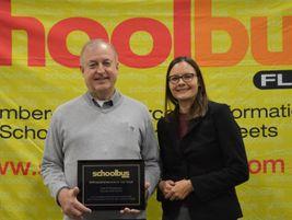 School Bus Fleet's Executive Editor Nicole Schlosser presented the Administrator of the Year...