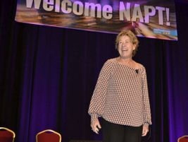 Karen Main, the founder and CEO of Innovations in Training, led attendees through a...