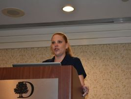 Kristin Rosenthal, a highway safety specialist for the National Highway Transportation Safety...