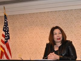 U.S. Sen. Tammy Duckworth (D-IL) told attendees that she added a grant program to the School Bus...