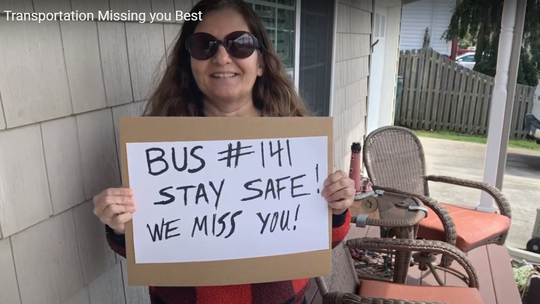 VIDEO: School Bus Drivers Let Students Know They Miss Them