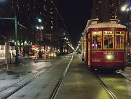 NOLA streetcar headed down Canal St. in New Orleans - David C - 2014 - Flickr