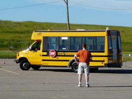 The driver competition featured three classes of school buses: small, transit and conventional.