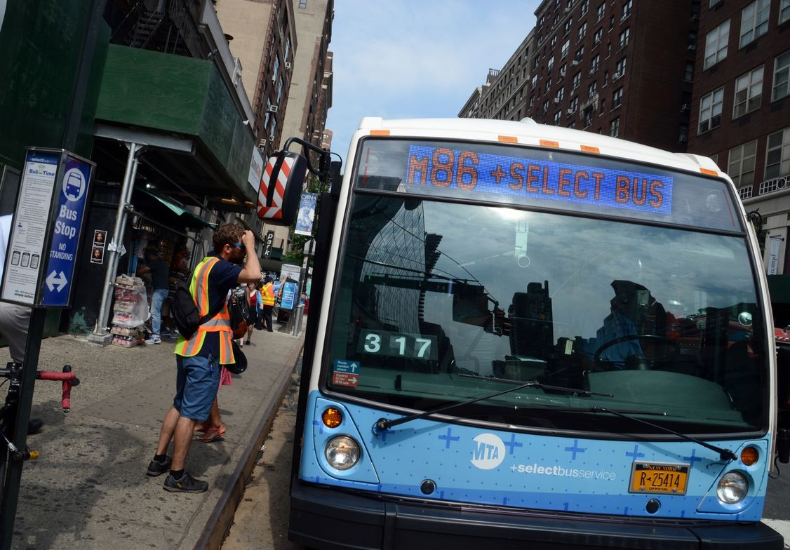 Select Bus Service launched on 86 St. on Mon., July 13, 2015. The M86 SBS will help make the...