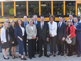 Among the attendees were the legislative sponsors of the Stop for School Buses Act of 2019,...