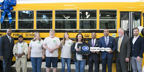 Newport News (Va.) Public Schools and Blue Bird celebrated the delivery of the school bus...