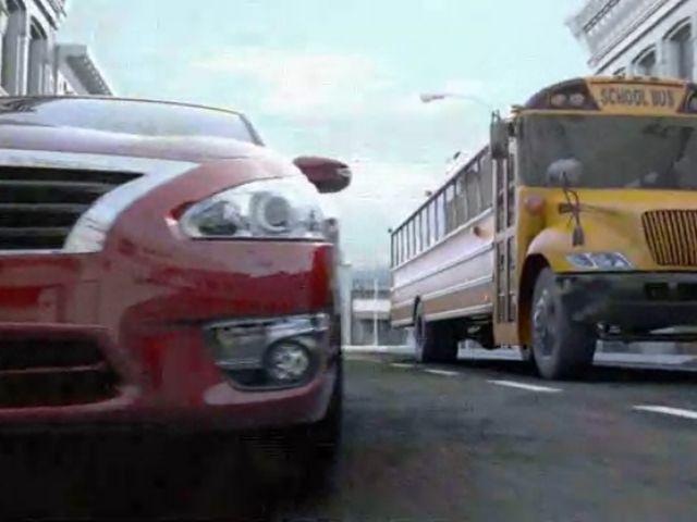 Industry groups denounce Nissan's 'school bus race' ad