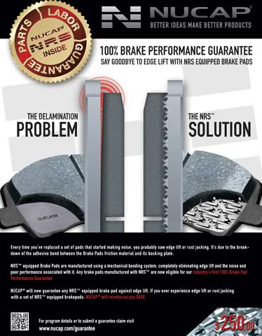 Nucap Brake Pad Performance Guarantee