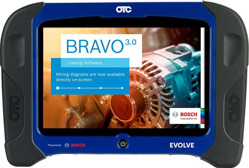 Bosch Unveils OTC Evolve Diagnostic Tablet