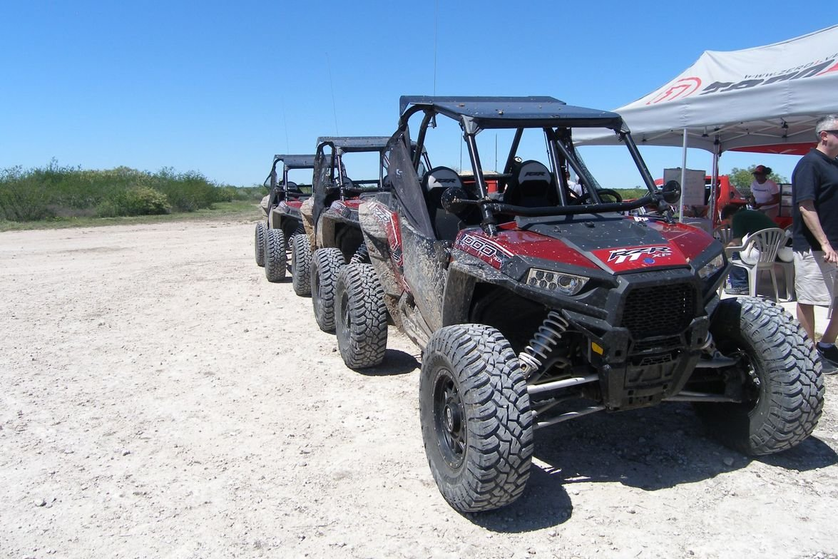 Polaris RZR vehicles showed the extreme off-roading capabilities of the General Grabber X3....