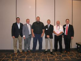 TIA President David Martin, far right, is pictured with TIA board members, from left, Daniel...