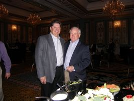 Ed Steck of Michelin Retread Technologies and Doug Lee of Myers Tire Supply enjoy the...