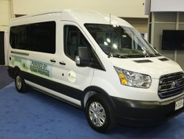 PERC featured a propane-fueled shuttle on the show floor.