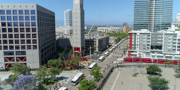 On Friday, MTS honored its late CEO Paul Jablonski with a procession of 40 MTS buses through...