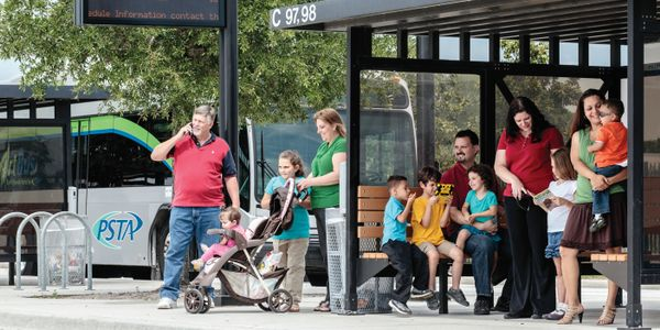 Rationalizing the number of bus stops is a consideration when trying to boost on-time...