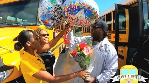 VIDEO: Longtime School Bus Driver Receives Special Recognition