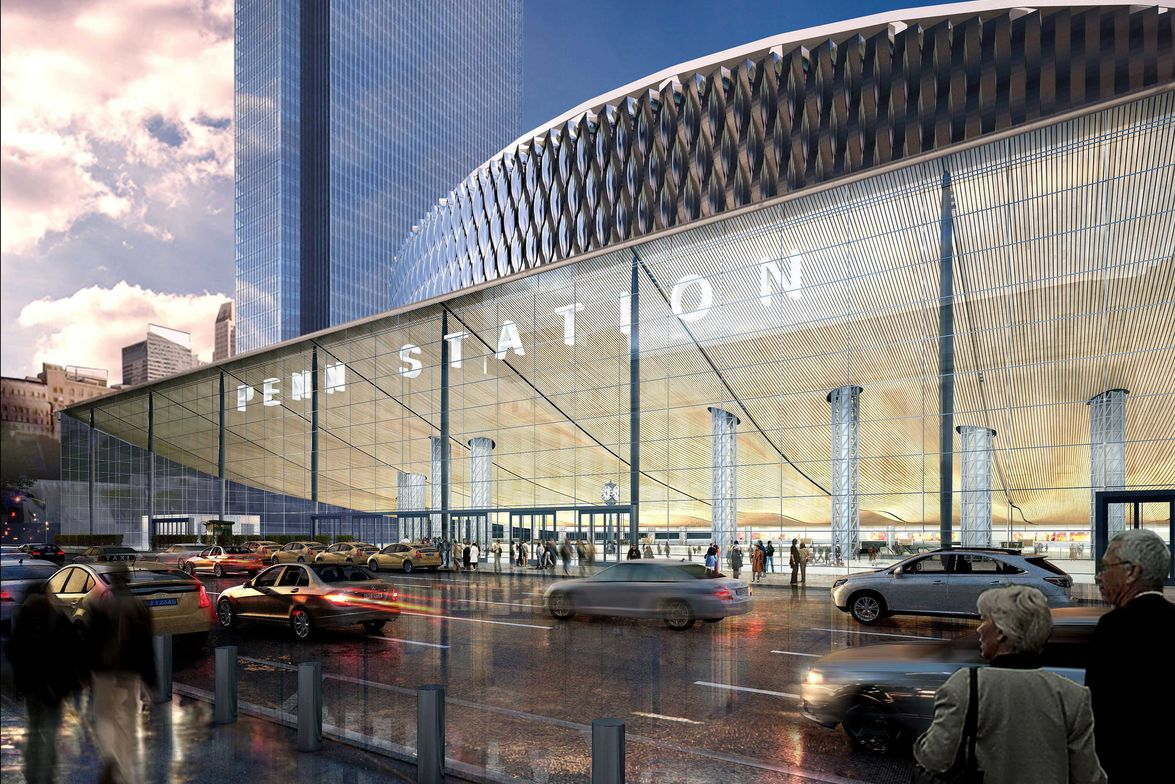 Redeveloped Penn Station Exterior: View from 8th Avenue - A friendly, negotiated condemnation...