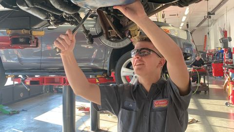 Grismer Tire Co. works with local high schools and community colleges to recruit young service...
