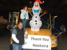 Vice President Tom Hoekstra and his daughter, Katie, shown here, helped customer West Shore...