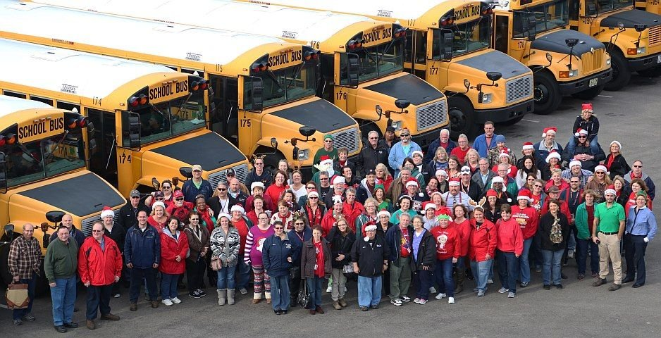 The Parma (Ohio) City School District transportation department took this photo for its holiday...